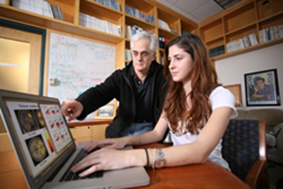 Professor Jon Cohen working with student